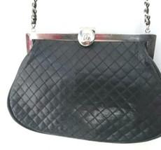 Auth CHANEL Shoulder Bag Black Lamb Skin Matelasse Vintage Logo Quilted B4607 - $2,068.11