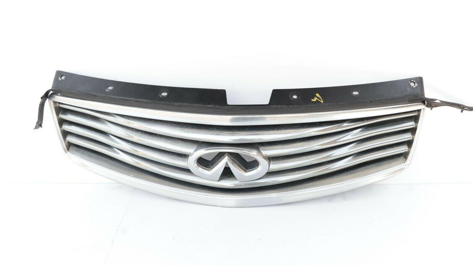 08-15 Infiniti Ex35 Ex37 Qx50 Front Bumper Upper Grille W/ Emblem W/O Camera