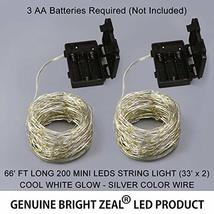 Bright Zeal 66' Long LED Cool White String Lights Outdoor Waterproof Fairy Light image 8