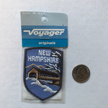 New Hampshire State Patch Iron On Vintage Made by Voyager Covered Bridge - $6.65