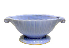 Shawnee Pottery blue ribbed cornucopia laurel wreath console bowl - $25.00