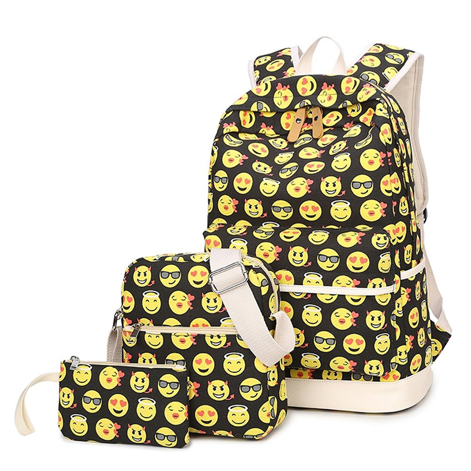 717ej2zpycl. ul1500. 717ej2zpycl. ul1500. Previous. 3Pcs Emoji Backpack  Casual Lightweight Canvas School Backpacks for Teen Girls 57a834285f3ad