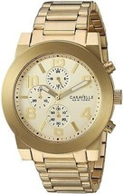 Caravelle New York Men's Quartz Stainless Steel Casual Watch All Gold-T... - £305.82 GBP