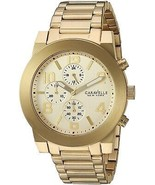 Caravelle New York Men's Quartz Stainless Steel Casual Watch All Gold-T... - $379.66