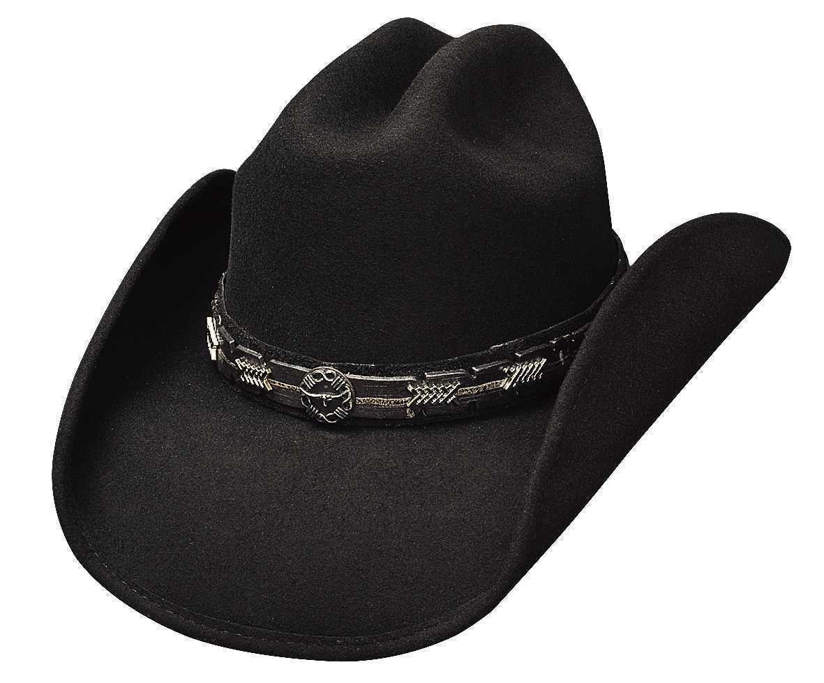 Primary image for Bullhide Pass The Buck Wool Classic Cowboy Hat Center Crease Steer Concho Black