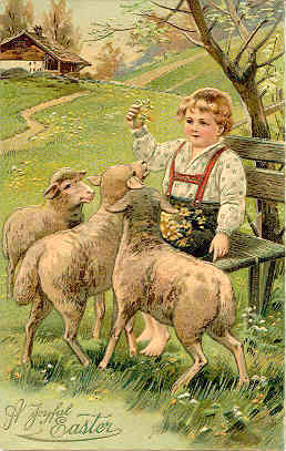 A Joyful Easter Paul Finkenrath of Berlin Post Card
