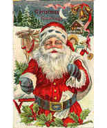 Christmas Greetings Vintage 1911 Post Card - $15.00