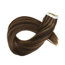 Hetto Tape in Human Hair Extensions 22 inches Seamless Glue in Hair Extensions 2 image 2