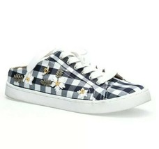 Betsey Johnson Edna Slip On Women's Sneakers Blue Gingham Size 10.5- 11 NIB - $46.99