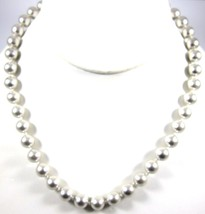 Monet High Quality Light Gray Glass Faux Pearl Vintage Signed Necklace*1... - $21.77