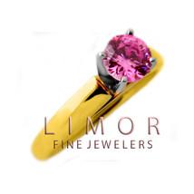 2 Ct Mujer 14K Sólido Oro Amarillo & Blanco Zafiro Rosa Anillo de Compro... - £325.91 GBP
