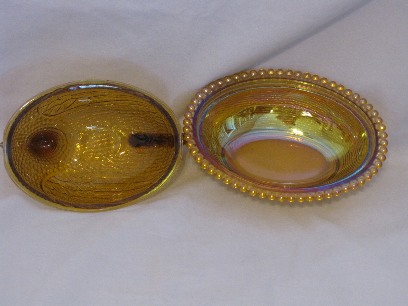 Vintage Nesting Hen Candy Dish