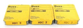LOT OF15 NEW BUSSMANN ABC-3 BUSS SMALL DIMENSION FUSES FAST ACTING, ABC3