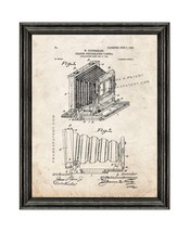Folding Photographic Camera Patent Print Old Look with Black Wood Frame - $24.95+