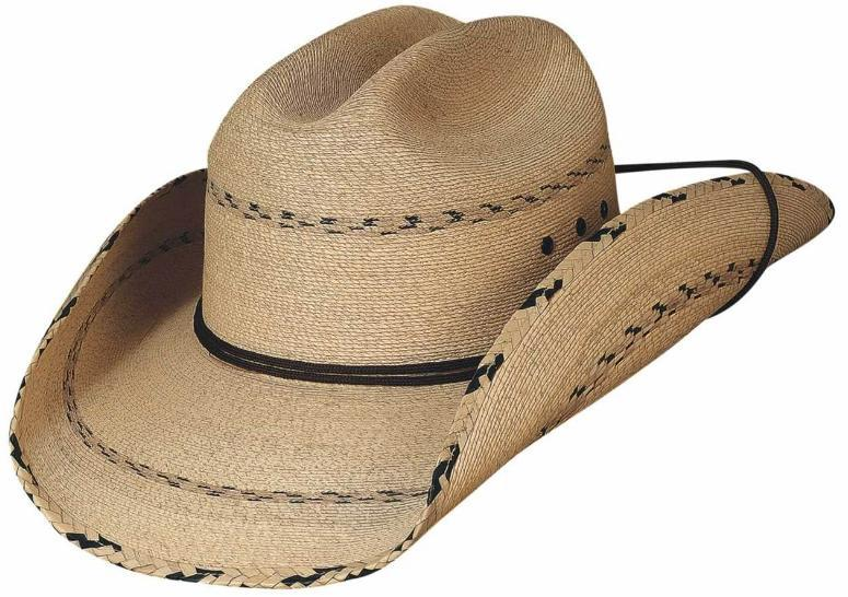 Primary image for Bullhide Miller 20X Mexican Palm Leaf Cowboy Hat Braided Brim And Crown Natural