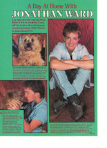 Jonathan Ward teen magazine pinup clipping barefoot in his bed at home Bop