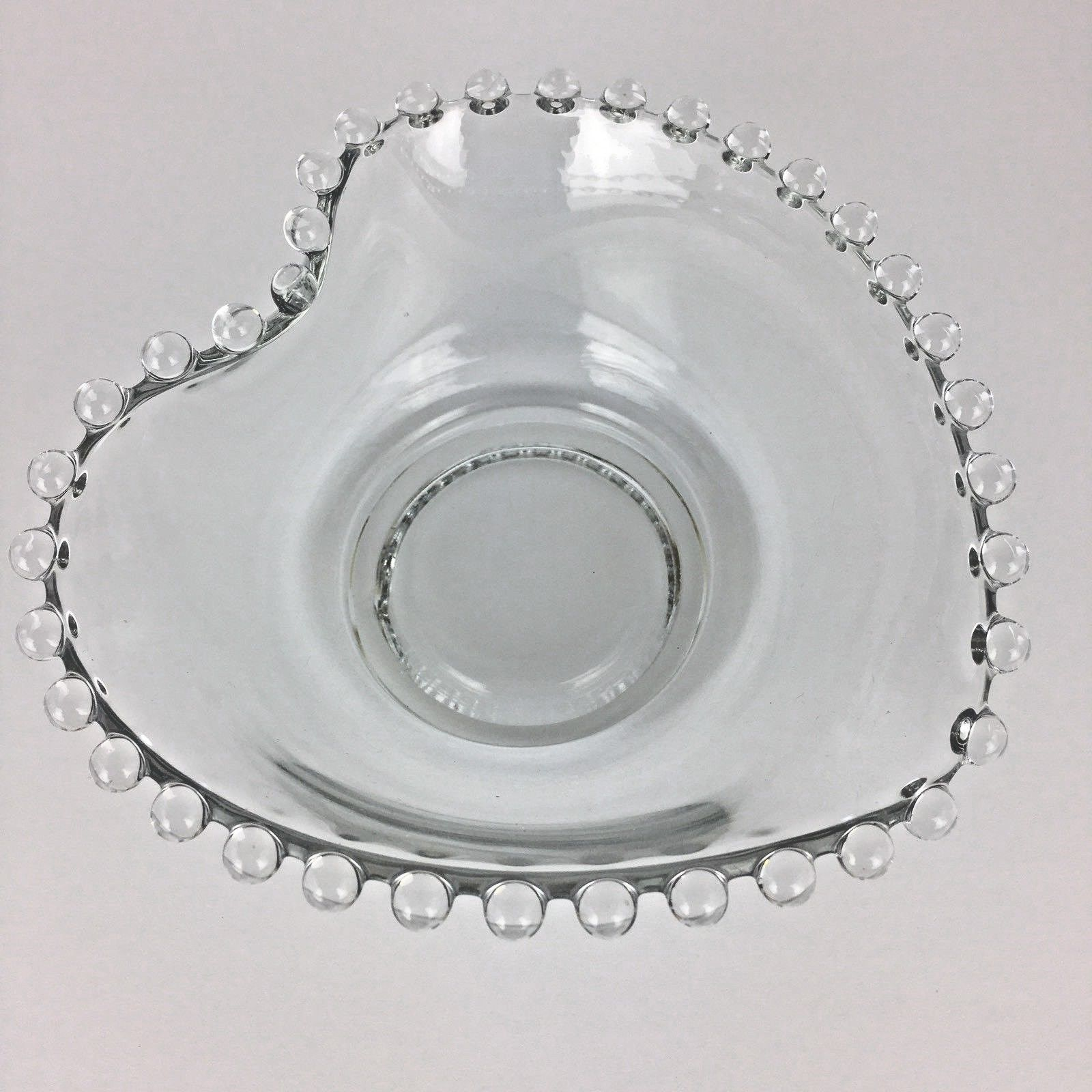 """Candlewick Imperial Heart Mayonnaise Bowl Vintage 5"""" Candy Nut Clear Glass MI352"""