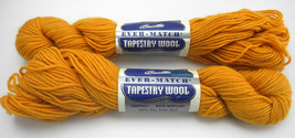 Vintage Bucilla Ever-Match Tapestry 100% Virgin Wool Yarn - 2 Skeins Gold #1906 - $9.45