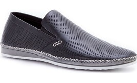 NEW ZANZARA Mens MERZ Slip-On Premium Perforated Leather Shoes image 1
