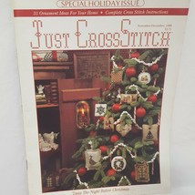 Just Cross Stitch Magazine Patterns Nov Dec 1988 Christmas Ornaments Holiday - $14.99