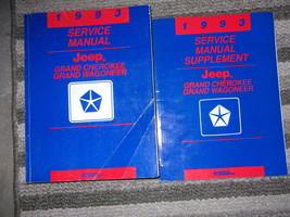 1993 Jeep Grand Cherokee Service Shop Repair Manual Set W SUPPLEMENT Book OEM - $37.18
