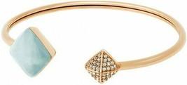 NWT Michael Kors MKJ5224710 Mint Green & Crystal Pyramid Bangle Bracelet   - $59.39