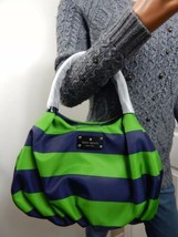 Kate Spade Cambridge Stripe Nylon Small Karen Shoulder Hand Bag NWT PXRU... - £98.58 GBP