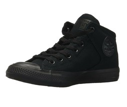 Converse Chuck Taylor High Street Hi Triple Black Womens Sneakers 149432F - $59.95