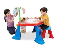 Tracing Art Desk Little Tikes Light Up Board To Trace Storage Table Kids... - $56.50