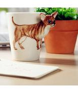 1pc - 3D Dog Handmade Ceramic Creative Mug Cup Cute Animals Shaped 300-4... - $24.99