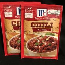 2 McCormick TEX-MEX Chili Seasoning Mix 1.25 oz Ea Best By 12/28/21 - $12.82