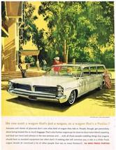 Vintage 1963 Magazine Ad Pontiac People Coddling Things in Wagons as Standard - $5.93