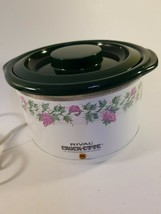 Vintage Rival Crock-ette 1 Qt. Slow Cooker #3200 75 Watt Removable Crock... - $24.99