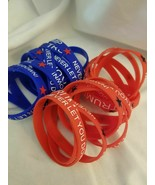Trump 2020 Never Let You Down Silicone Bracelets - 5 total - $1.59/ea - $7.87