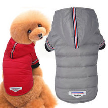 Small Puppy Dog Clothes Hooded Dog Coat Windproof Pet Jacket Winter Warm... - $23.32