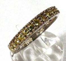 AVON STERLING SILVER 925 PERIDOT BAND RING SIZE 7.5 image 4
