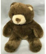 "Build a Bear Plush Stuffed 12'' Brown & Tan Bear 9"" sitting - $9.85"
