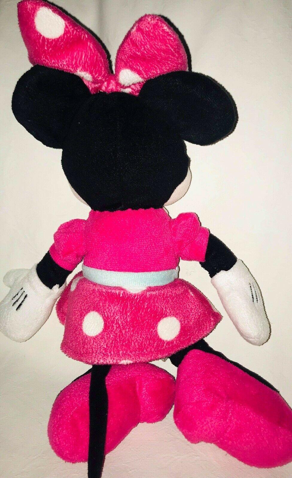 "Disney Minnie Mouse Plush Pink Polka Dot  Stuffed Animal Doll 15"" image 4"