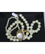 Big White Pearl Necklace with Pendant - $7.99