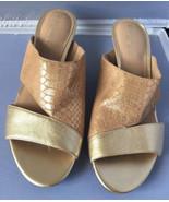 Naturalizer Buena Women's Sandals & Flip Flops ~ Gold Mules Size 7.5N - $17.95