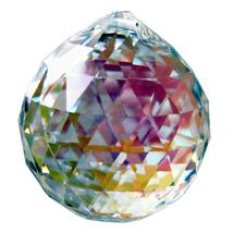 Swarovski 30mm Aurora Borealis Crystal Faceted Ball Prism image 1