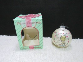 1994 Precious Moments Glass Ornament, May Your Christmas Be Delightful - $6.95