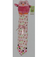 GANZ Brand Baby GANZ Collection BG2889 Pink Plush Owl Pink Green Blanket - $13.00