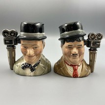 Laurel And Hardy D7008 D7009 Royal Doulton Character Jugs 1652/3500 COA - $296.99