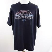 Harley Davidson Daytona Beach Navy Blue Graphic T Shirt Mens Sz 2X USA - $24.09