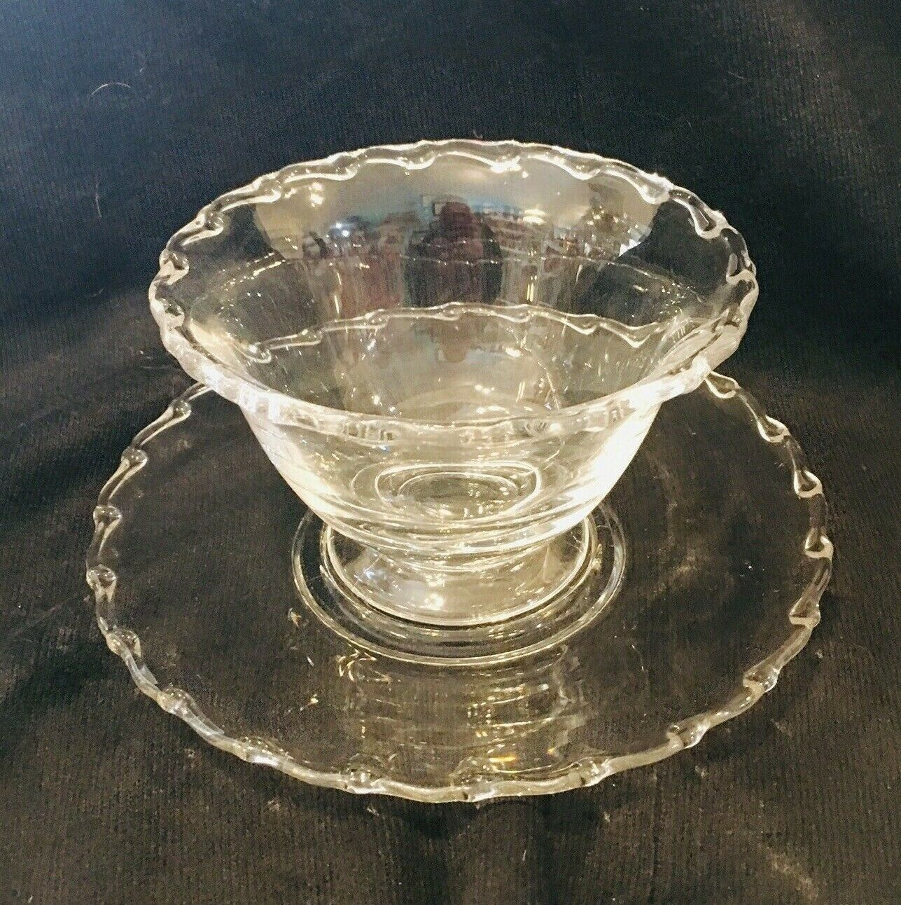Primary image for Vintage Fostoria Century Pattern Mayo Bowl w Under Plate In Excellent Shape