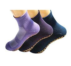 PANDA SUPERSTORE 3 Colors Adult Non-Skid Socks for Yoga Pilates Ballet Mens and