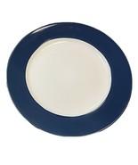 "Royal Norfolk Navy Colbat Blue Rim Stoneware 4-Dinner Plates 10 1/2""D - $23.76"