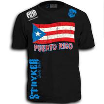 Stryker Fight Gear Puerto Rico Flag Soccer MMA Adult T Shirt w Free Reeb... - $23.33+