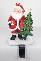 "6"" Tall Santa Claus with Tree Christmas Stocking Holder Hanger Shelf Sitter - $19.75"